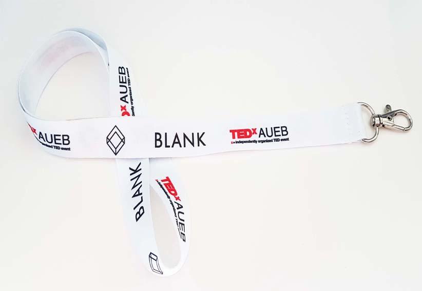 TEDX_Lanyard με μεταλλίκο κρίκο