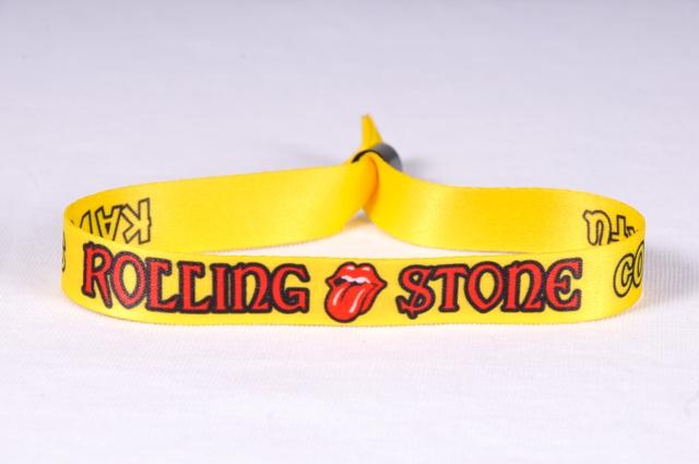 Rolling Stones_Βραχιολάκια εισόδου υφασμάτινα