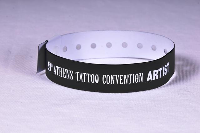 Tattoo Convention_Βραχιολάκια εισόδου βινυλίου